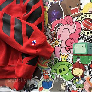 Худи  Champion x OFF WHITE • Red • Унисекс • Ориг. бирки • Люкс реплика, фото 2