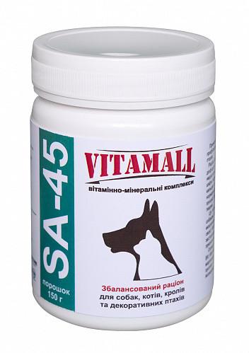 Вітаміни Vitamall SA-45 Вітамол СА-45 для собак, кішок, кроликів і птахів 150 г