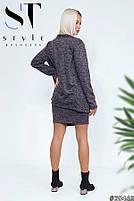 Элегантное платье из ангоры с кардиганом в комплекте размеры 42-54, фото 2