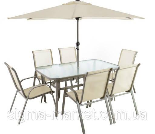 Набор садовой мебели DALLAS 6+1+ зонтик Польша