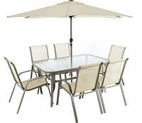 Набор садовой мебели DALLAS 6+1+ зонтик Польша, фото 1