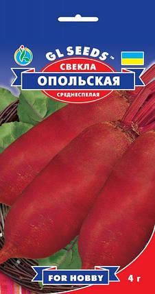 Свекла Опольская, пакет 4г - Семена свеклы, фото 2