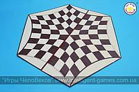 Игровое поле Русских Шахмат (шахмат на троих), картон