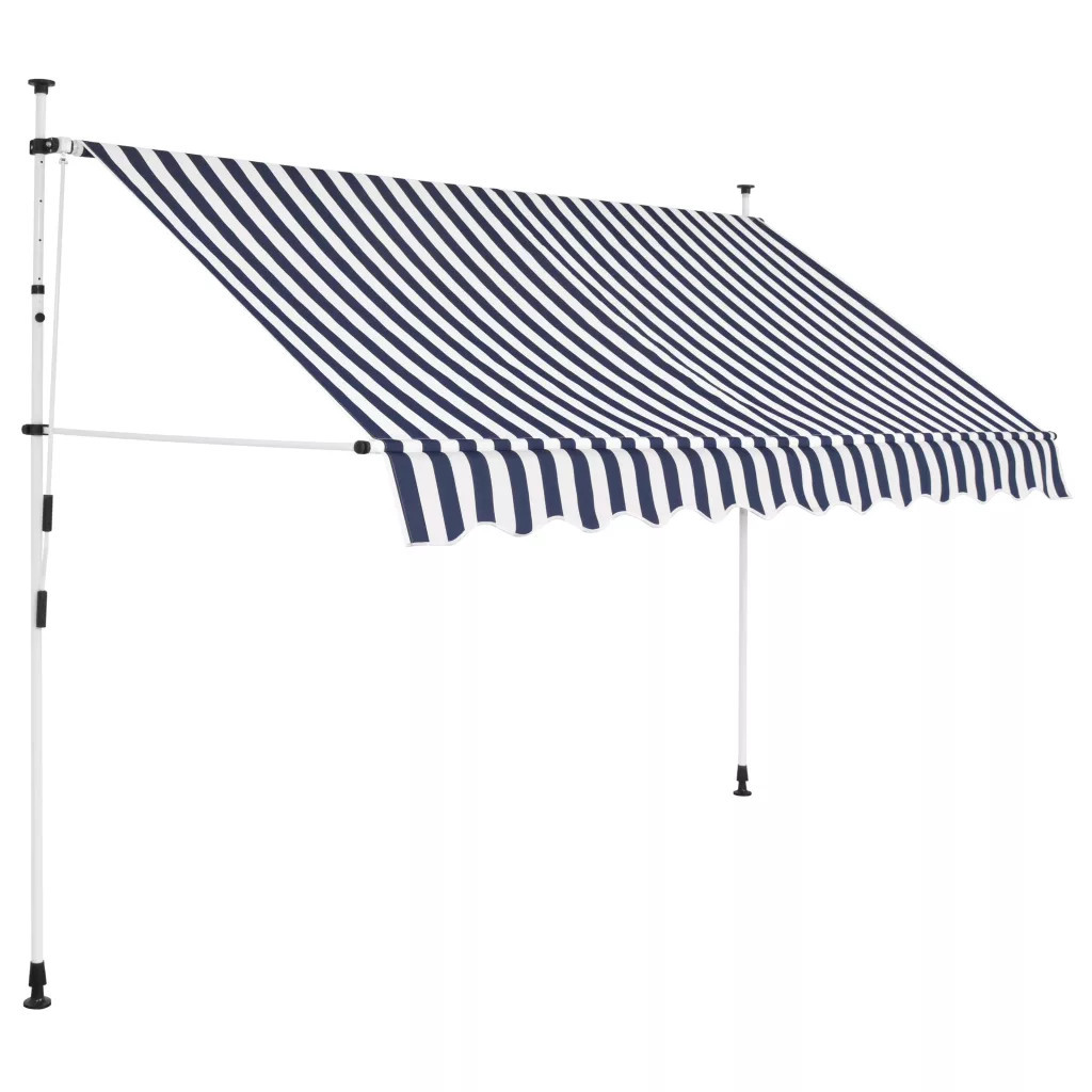 Маркиз ручной 250х120 см синие и белые полосы