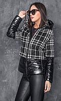 Куртка демисезонная Мелисса клетка, фото 1