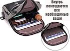 Сумка - рюкзак через плечо с кабелем USB, фото 4