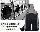 Сумка - рюкзак через плечо с кабелем USB, фото 5