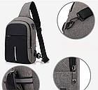 Сумка - рюкзак через плечо с кабелем USB, фото 6