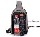 Сумка - рюкзак через плечо с кабелем USB, фото 7