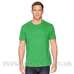 Уплотненная зеленая мужская футболка (Премиум)