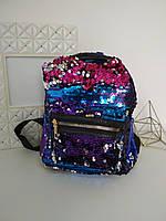 Рюкзак с пайетками для девочек 23*23*16 см, фото 1