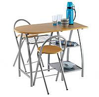 Столовый браный набор  D100 + 2 стула