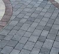 Тротуарная плитка из натурального камня серая