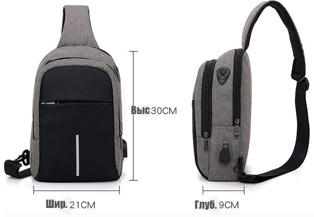 Размеры сумки через плечо