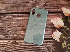 Чехол с блестками Shine для Huawei P Smart plus Голубой силикон