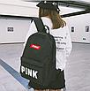 Рюкзак женский городской Pink черный, фото 3