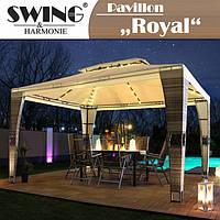 Садовый павильон  LED-Rattan Pavillon - «Royal» - 3x4 м