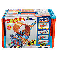 Трек Хот Вилс Трюки и Гонки - Hot Wheels Race Crate Track Builder System (FTH77)
