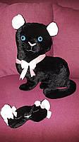 Игрушка - подушка Черная Пантера с маской для сна из Волшебного Королевства Маленького Единорога / ns - 08