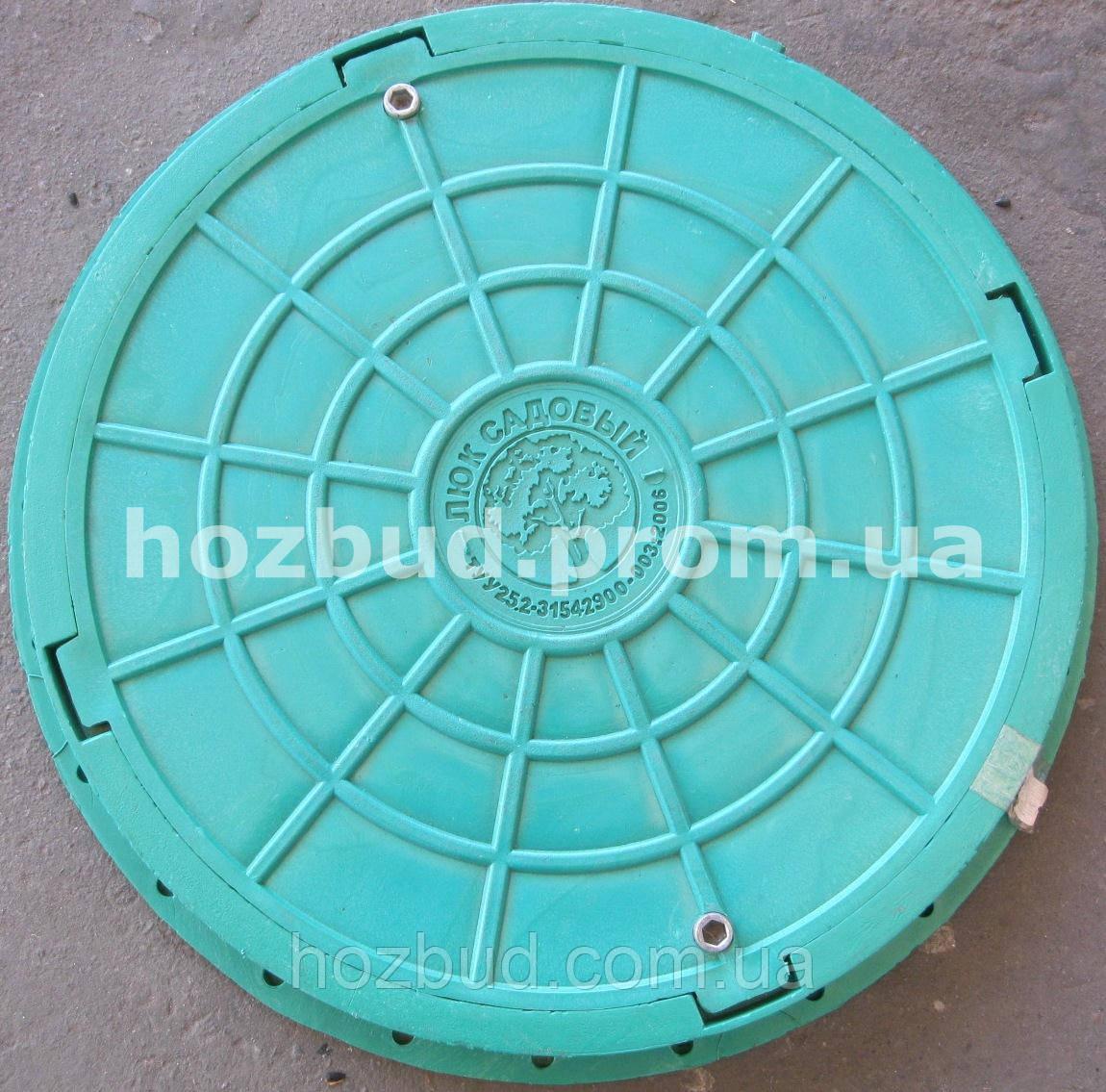 Люк канализационный 1т зеленый с замком