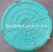 Люк каналізаційний 1т зелений з замком