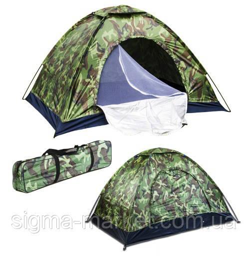 Туристическая палатка на 4 человек MORO 200 x 200 см
