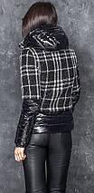 Стильна демісезонна коротка куртка з капюшоном Меліса 42-48 р, фото 2