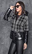 Стильна демісезонна коротка куртка з капюшоном Меліса 42-48 р, фото 3