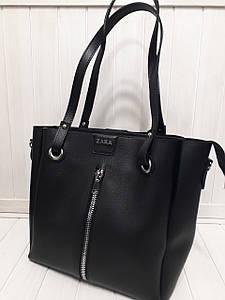 Женская сумка из экокожи с длинными ручками