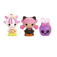 Набор с куклами КРОШКАМИ LALALOOPSY - КЭТ И АКВАРЕЛЬКА (2 куклы, питомец)
