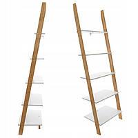 Стеллажная полка лестница 177 см