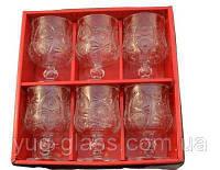 """Набор бокалов для коньяка стеклянных 175 мл """"6384"""" 6 шт."""