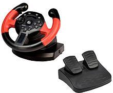 Руль Gembird STR-UV-01 с педалями двойная вибрация ощущение реальной гонки USB интерфейс