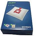 Набор мешков (4шт) + фильтр для пылесоса Zelmer 49.4200 12006468 (ZVCA300B), фото 4