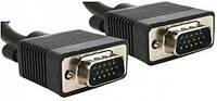 Кабель VGA - 5.0м CC-PPVGA HD15M/HD15M Black тонкий
