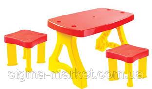 Садовый стол для пикника+ 2 стула