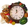 Часы настенные Фруктовая сковородка (лепка), фото 2