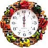 Часы настенные Фруктовая сковородка (лепка), фото 3