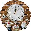 Часы настенные Фруктовая сковородка (лепка), фото 6