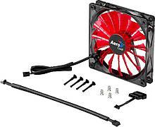 Вентилятор 120 mm Aerocool Shark Fan 120мм Devil Red LED Retail