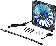 Вентилятор 120 mm Aerocool Shark Fan 120мм Blue LED Retail