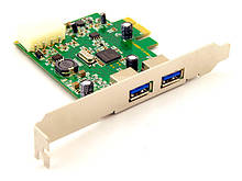 Контроллер PCI-Express Х1 USB 3.0 2 канала 2вн. NEC PCI-E