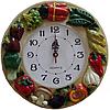Часы настенные Фруктовая сковородка (лепка), фото 8