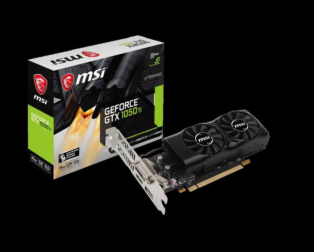 Видеокарта GeForce GTX1050Ti MSI 4Gb DDR5 128-bit GTX 1050 TI 4GT LP