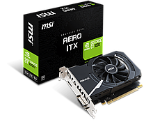 Видеокарта GeForce GT1030 OC MSI AERO 2Gb DDR5 64-bit GT 1030 AERO ITX 2G OC