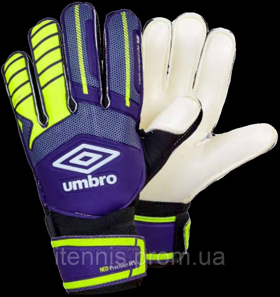 """Перчатки вратарские Umbro (p.8,9,10) """"фиолетовый-салатовый"""""""