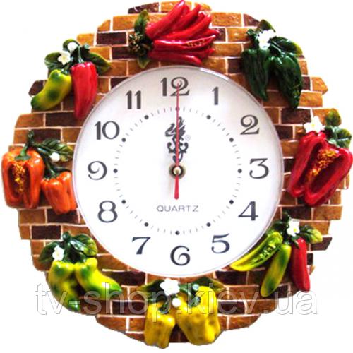 Часы настенные Перцы (лепка )