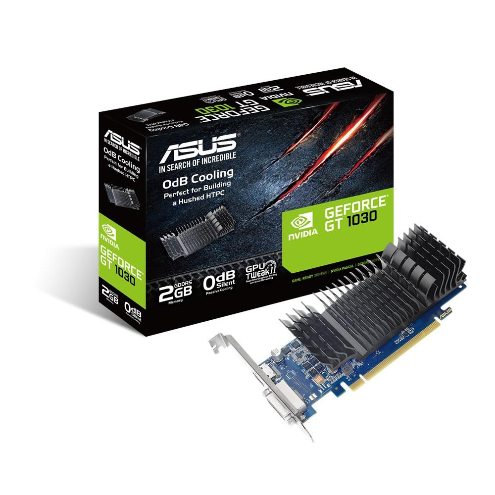 Видеокарта GeForce GT1030 OC Asus 2Gb DDR5 64-bit GT1030-SL-2G-BRK
