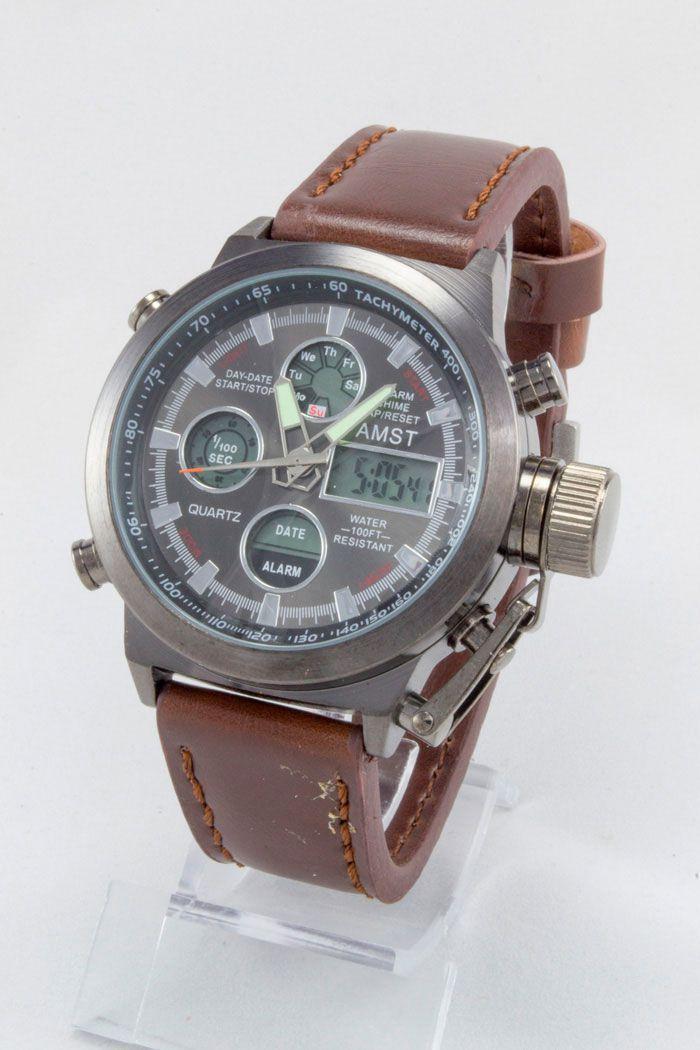Мужские армейские наручные часы AMST (код: 12180)