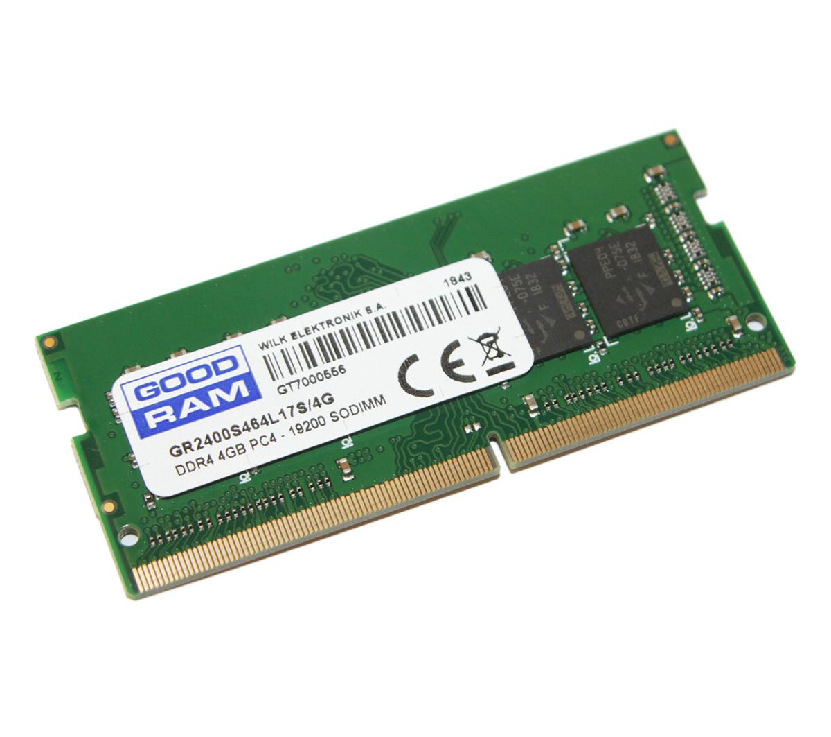 Память SO-DIMM 4Gb DDR4 2400 MHz Goodram 1.2V GR2400S464L17S/4G